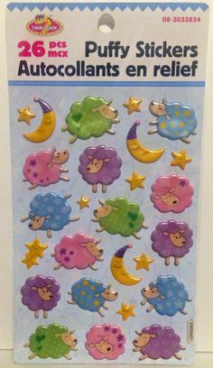 Counting Sheep Stickers by PaperHaberdashery on Etsy