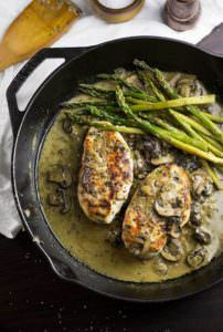 One Skillet Creamy Chicken with Mushrooms Recipe