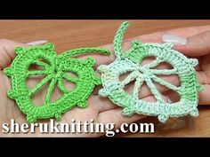 Get the more patterns at http://sheruknitting.com/ In this tutorial you will learn how to crochet a classic leaf with little chain spaces inside. This croche...