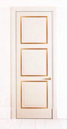 Door with gold