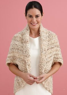Simple Crochet Shrug - Another that I would love to make for myself. Free pattern from Lion Brand Yarn.