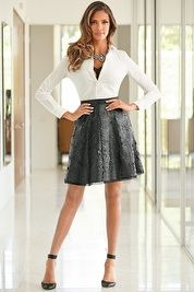 Faux leather floral circle skirt