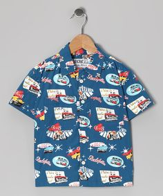 Take a look at this Blue Donnie Button-Up - Infant, Toddler & Boys by Rockefella on #zulily today!