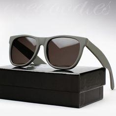 Retrosuperfuture: Dark grey matte sunglasses.