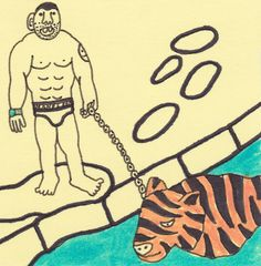 Mike Tyson & Pet Tiger. Gangster Doodles