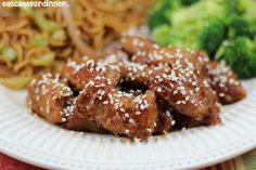 Eat Cake For Dinner: Sesame Chicken I Love Food, Good Food, Yummy Food, Great Recipes, Favorite Recipes, Recipe Ideas, Sesame Chicken, Asian Recipes, Chicken Recipes