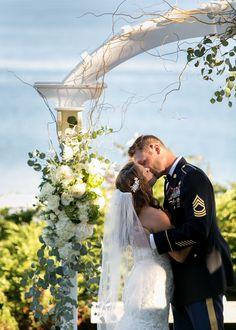 First Kiss As Husband And Wife At Their Hartley Mason Reserve Wedding Ceremony York Harbor Inn Weddings Maine Nadra Photography