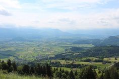 view from Stoss over the Rheintal valley