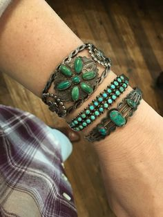 One-of-a-kind, Western jewelry. Kemo Sabe has a diamond and vintage turquoise collection of rings, earrings, necklaces, bracelets and squash blossoms. Turquoise Cuff, Vintage Turquoise, Western Jewelry, Vintage Jewelry, American Indian Jewelry, Stone Rings, Frost, Adobe, Cuffs