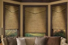 Natural Woven Shades for Relaxed Décor | Drapery Room Ideas