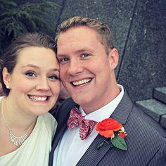 Ghost wedding picture photobomb