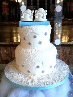 Winter Wonderland Cake, Baby Shower Cake @ Little Delights Bakery Lowell