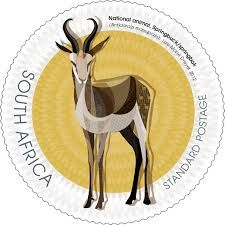 South African stamp designed by Lize-Marie Dreyer Africa Art, Out Of Africa, Union Of South Africa, African Symbols, South African Design, Colonial, National Symbols, African Animals, Small Art