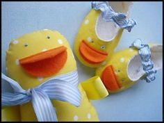 Download Duck Shoes & Doll + Plain Shoes - Sizes 0-14mths Sewing Pattern | Baby | YouCanMakeThis.com