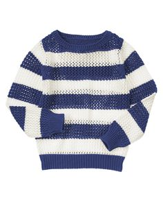 Open-Stitch Stripe Sweater at Crazy 8