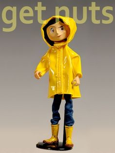 Coraline Bendy of Fashion Rain Coat Figura de Ação
