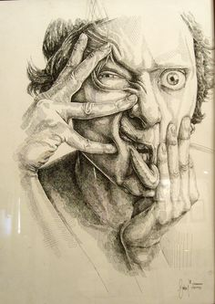 Gorkemoztas aka Gorkem Oztas (Turkey) - Deformed Face, 2008  Traditional Arts: Drawings: Technical Pen  http://gorkemoztas.deviantart.com/#/d1d8wiw