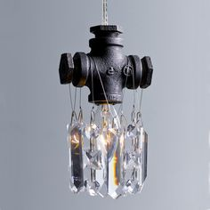 Michael McHale designs: tribeca single-bulb pendant...perfect mix of industrial and pretty.