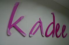 Türschild von PAULSBECK Buchstaben, Dekoration & Geschenke auf DaWanda.com