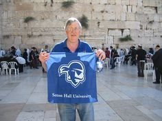 Michael Stein '80 in front of the Wailing Wall in Jerusalem, Israel