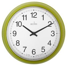 Acctim Lorene Traditional Black, Lime Green & White Wall Clock | Departments | DIY at B&Q