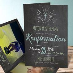 einladungskarten konfirmation - konfirmationseinladungen selbst, Einladung