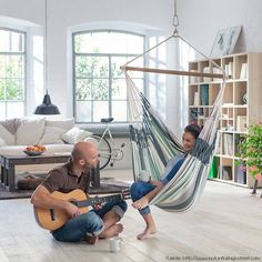 Indoor Hammock Bed Uk - Bedding : Home Decorating Ideas Indoor Hammock Bed, Indoor Swing, Interior Design Living Room, Living Room Designs, Man Cave Must Haves, Beds Uk, Swing Seat, Floor Design, Adulting