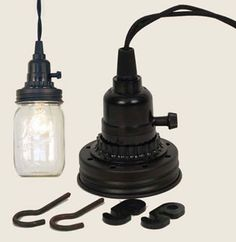 Mason Jar Pendant Lamp Kit - Rustic Brown – BRIARWOOD
