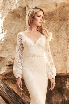 New Wedding Dresses, Designer Wedding Dresses, Lace Wedding, Beach Formal Attire, Mikaella Bridal, Fit And Flare, Lace Skirt, Fashion Beauty, Gowns