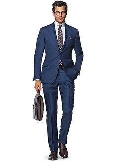 Suit Blue Plain Napoli P4291ni | Suitsupply Online Store