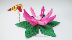 3d Origami Lotus Flower 3d Origami Flower 3d Origami Lily