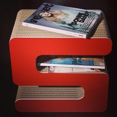 Magazine holder cardboard design