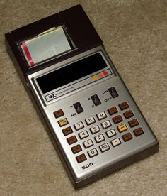Vintage National Semiconductor (NSC) Model 500 Electronic Pocket Calculator And Paper Printer, Made In Japan, Very Compact Calculator And Printer.