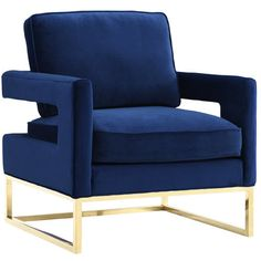 Avery Velvet Arm Chair | Joss & Main