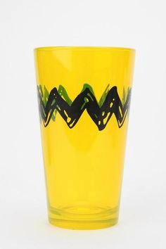 Idea - buy yellow plastic glasses and use a sharpie to draw zig zag around it
