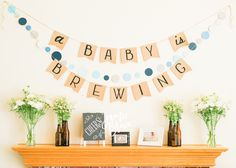 A Baby is Brewing, Baby Shower Ideas Themes Decor, Coed Baby Shower