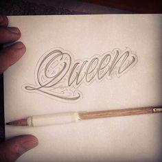 Good morning calligraphy #tattoolettering ... #tattooscript #drawing #queen #calligraffiti #calligraphy #handtype #lettering #customlettering #tattoo #amazingart #drawing #art #ink #tattoos #tattooed #blackandwhite #goodtype #gothic #typegang #penmanship #script #scripture #design #inked #king #art #goodart #fineart #handlettering #inspiring