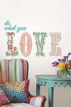 Do What You Love Wall Quote by Brewster Home Fashions on @HauteLook
