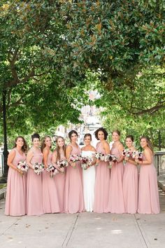 Wedding color inspiration with bridesmaid dresses in dusty rose for wedding color ideas Photography @CarlyFullerPhotography Junior Bridesmaids, Wedding Bridesmaid Dresses, Wedding Planning, Wedding Ideas, Glitter Roses, Wedding Ceremony Decorations, Online Dress Shopping, Dusty Rose, Color Inspiration