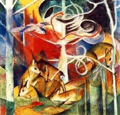 Art portfolio of the (World) Munich, Germany-based artist Franz Marc. Franz Marc was a German painter and printmaker, one of the key figures of the Franz Marc, Wassily Kandinsky, Wildlife Paintings, Animal Paintings, Oil Paintings, Cavalier Bleu, Blue Rider, Art Sur Toile, Expressionist Artists