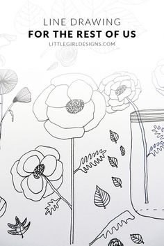 Line Drawing for the Rest of Us - Have you ever wanted to learn how to make whimsical illustrations? This course will teach you how. Doodle Drawings, Doodle Art, Flower Drawings, Line Drawing, Painting & Drawing, You Draw, Pics Art, Teaching Art, Art Techniques