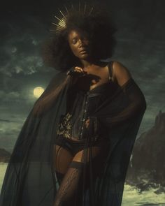 """""Every saint has a past, and every sinner has a future."" ~ Oscar Wilde Corset by Lou Watson for Cape and Knickers by Kiss Me Deadly, Bra from Made by Niki, Stockings by Cervin"" Afro, Black Girl Aesthetic, Lingerie Photos, Beautiful Black Women, Black People, Black Girl Magic, Pretty People, Female Art, Character Inspiration"