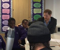 Footage has emerged from Prince Harry's visit to Nottingham yesterday playing an age old prank on a young boy, by tapping him on the shoulder to make him turn the wrong way