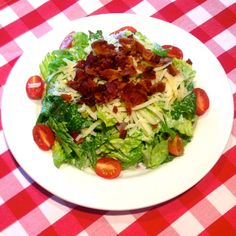 Who needs a sandwich? Our classic BLT Salad made with romaine lettuce, red onions, banana peppers, crispy bacon, cherry tomatoes, parmesan cheese & peppercorn ranch dressing is so tasty and filling, you'll never miss the bread!