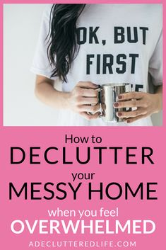 If you feel overwhelmed by housekeeping on top of all your other responsibilities, don't give up. It's not hopeless. You CAN declutter your home with this easy-to-stick-to decluttering method that even the busiest mom can manage!
