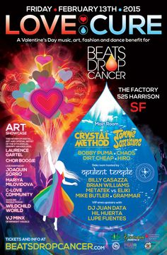 Beats Drop Cancer Love:Cure Announce The Crystal Method #TheCrystalMethod #TommieSunshine #BeatsDropCancer