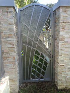 Simply Elegant Walk thru Gate Tall Walk Through Gate Wide Walk Thru Grill Gate Design, House Main Gates Design, Front Gate Design, Window Grill Design, Door Gate Design, Fence Design, Metal Gates, Iron Gates, Iron Doors
