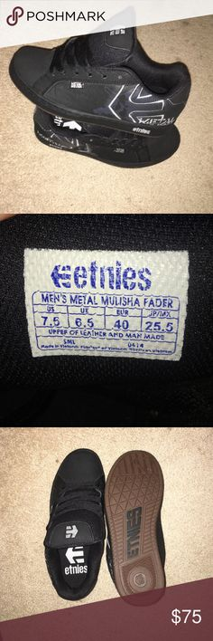Etnies size 7M (9 Wmns) metal mulisha fader Sneaks Never been worn still have box they came in! Metal mulisha junkies - these are special edition, you won't see them again! Etnies Shoes Sneakers