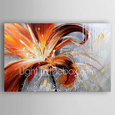 Pintada a mano Floral/Botánico Pinturas de óleo,Modern Un Panel Lienzos Pintura al óleo pintada a colgar For Decoración hogareña 2017 - $1361.97