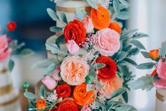 Sugar Flower Wedding Cake Trio I The Mischief Maker
